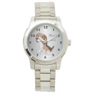 Relógio Design personalizado do cão do lebreiro