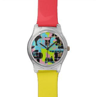 Relógio Design quebrado do abstrato das formas