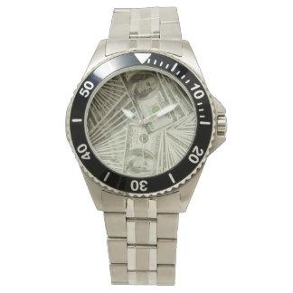 Relógio desproporcionado unisex do bracelete do