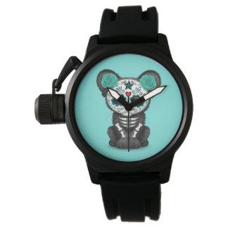 Relógio Dia azul da pantera preta inoperante Cub