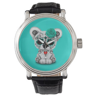 Relógio Dia azul do urso polar do bebê inoperante
