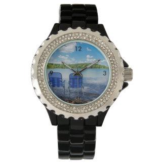 Relógio Dia perfeito no lago