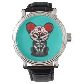 Relógio Dia vermelho da pantera preta inoperante Cub