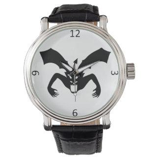 Relógio Diabo branco e preto
