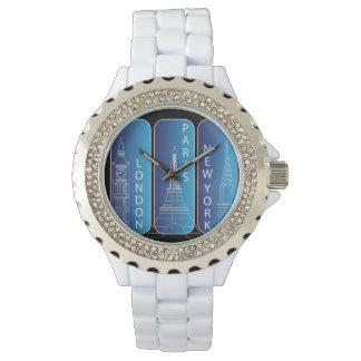 """Relógio Diamante """"olhar"""" senhoras de New York, Londres,"""