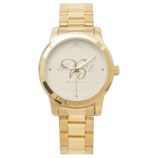 Relógio do bracelete da coroa das mulheres feitas