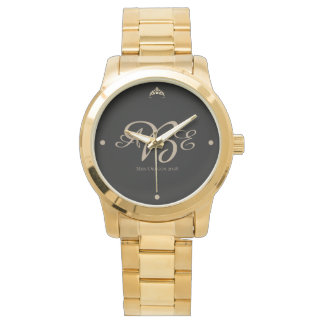 Relógio do bracelete de Coroa da senhorita Rodeio
