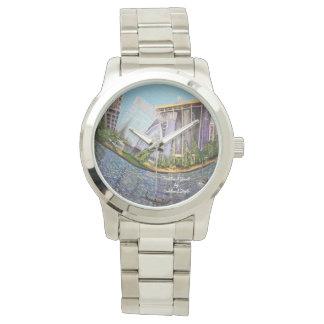 Relógio do bracelete do cromo da jóia de Oakland
