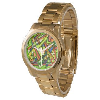 relógio do bracelete do ouro de Oakland do iUptown