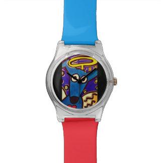 Relógio do cão do pop art