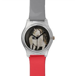 Relógio do cavalo branco