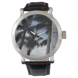 Relógio do couro das palmeiras de Tenerife