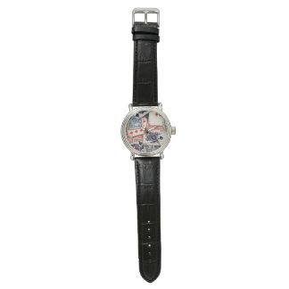"""Relógio do couro do vintage do """"póquer"""""""