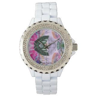 Relógio do cristal de rocha das mulheres do teste
