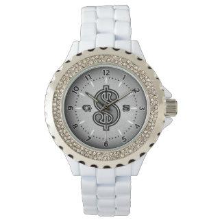 Relógio do dinheiro - preto & branco