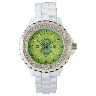 Relógio do dinheiro - verde
