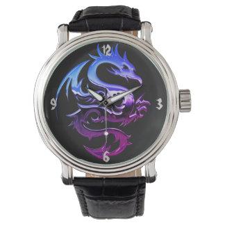 Relógio do dragão do cromo
