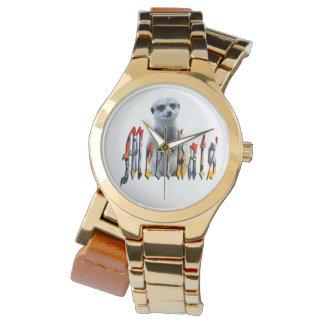 Relógio do envoltório do ouro das senhoras de