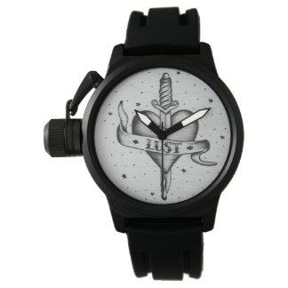 Relógio do estilo do tatuagem da luxúria