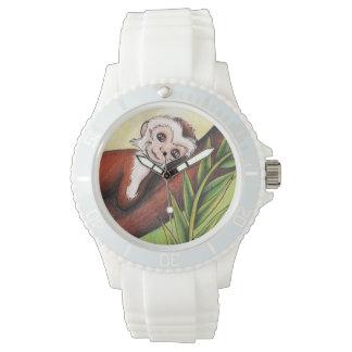 relógio do eWatch com arte do macaco pequeno