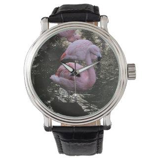 Relógio do flamingo