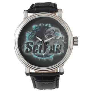 Relógio do logotipo do dragão de SciFan
