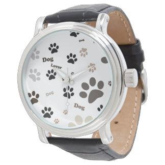 Relógio do lovera do cão