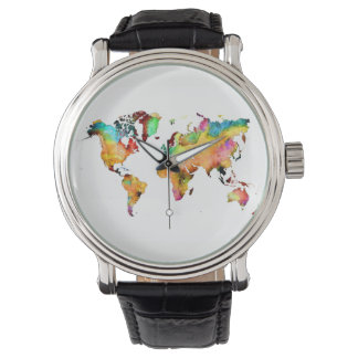 relógio do mapa do mundo