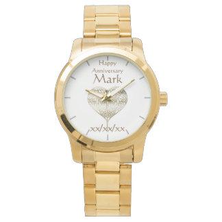 Relógio do MARIDO do aniversário da renovação do