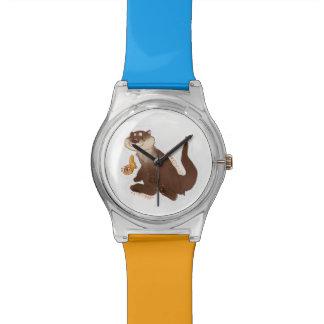 Relógio do peixe dourado do n da lontra