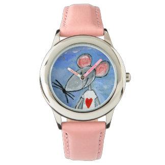 Relógio do rato do amor