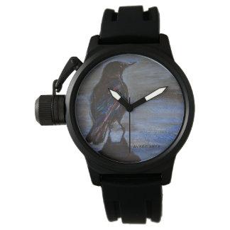 """Relógio Do """"relógio das cores corvo"""""""