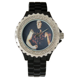 Relógio do rolo da rocha N de Dave Evans