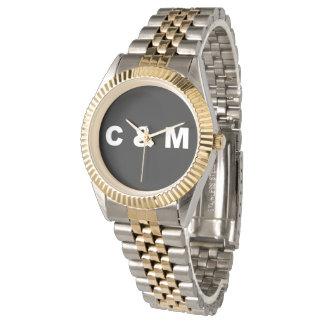 Relógio do ` s dos homens de C & de M