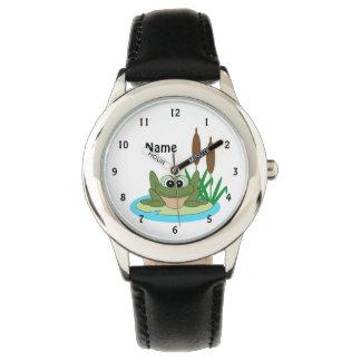 Relógio do sapo dos desenhos animados do