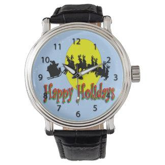 Relógio do trenó do papai noel