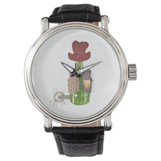Relógio do vaqueiro da garrafa