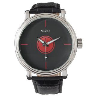 Relógio do vermelho & do preto