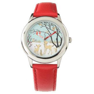 Relógio dos bichos do Natal para miúdos