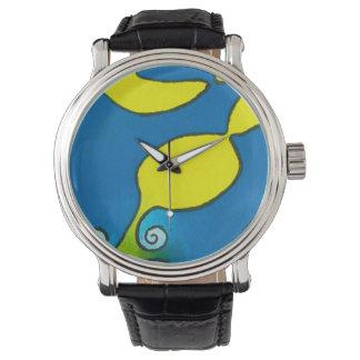 Relógio dos homens - Escargot azul