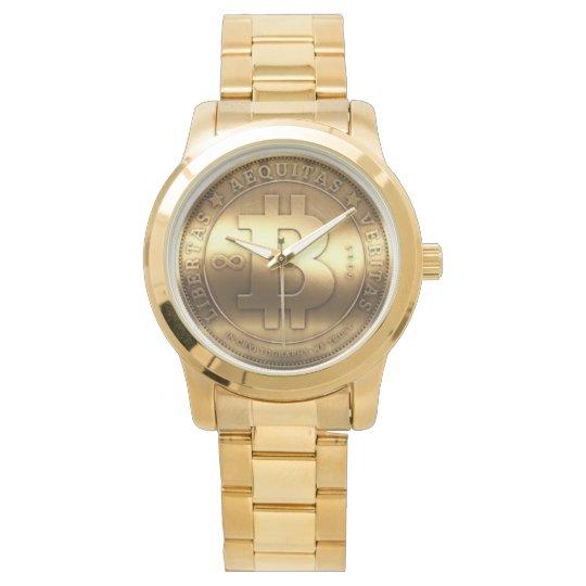 Relógio Dourado Bitcoin