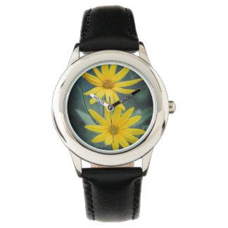Relógio Duas flores amarelas do tupinambo