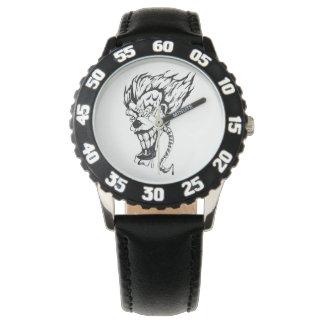 Relógio E-relógio mau do palhaço para miúdos
