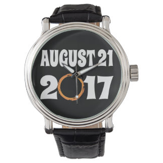 Relógio Eclipse solar 21 de agosto de 2017 total