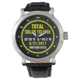 Relógio Eclipse solar total 8/21/2017
