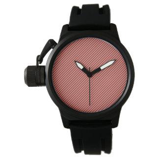 Relógio Eco do pêssego e listra preta