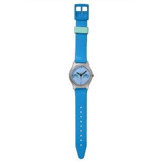 Relógio Elefante do Henna (azul/luz - azul)