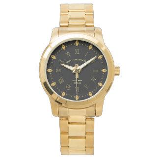 Relógio Elegante comemorativo do 50th jubileu dourado do