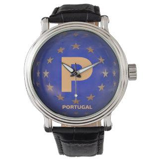 Relógio elegante de Portugal dos homens