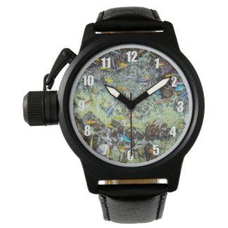 Relógio elétrico do design dos peixes para homens